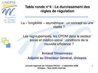 Table ronde n�4 : Le durcissement des r�gles de r�gulation