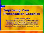 Improving Your Presentation Graphics