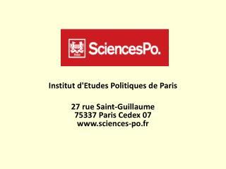 Institut d'Etudes Politiques de Paris