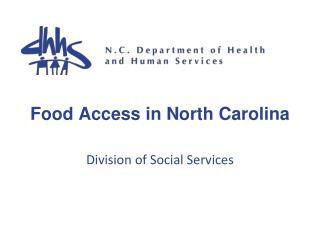 Food Access in North Carolina