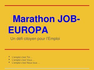 Marathon JOB-EUROPA