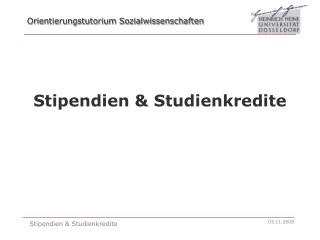 Stipendien & Studienkredite
