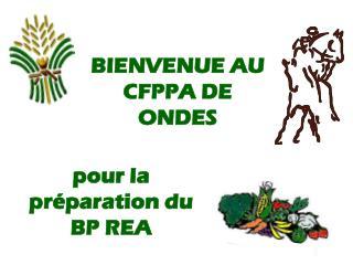 BIENVENUE AU  CFPPA DE ONDES