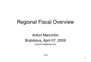 Regional Fiscal Overview