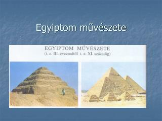 Egyiptom muv szete