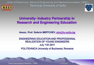 University- Industry Partnership in  Research and Engineering Education