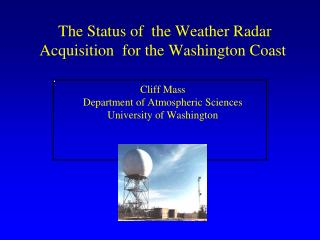 During the early 90s,  the NWS installed a network of powerful Doppler Weather radars, aka NEXRAD