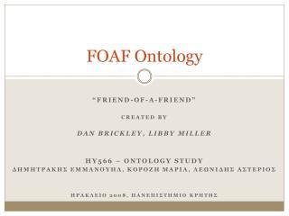 FOAF Ontology
