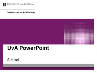 UvA PowerPoint