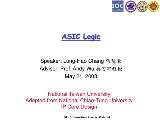 ASIC Logic