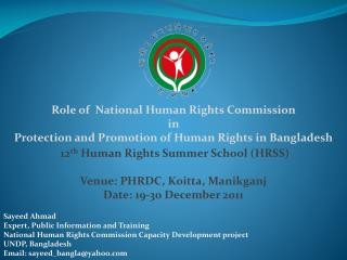 Role of  National Human Rights Commission  in  Protection and Promotion of Human Rights in Bangladesh