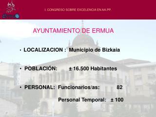 I. CONGRESO SOBRE EXCELENCIA EN AA.PP.