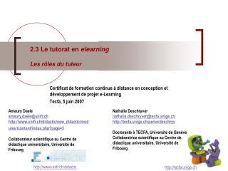Certificat de formation continue à distance en conception et développement de projet e-Learning