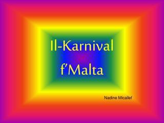 Il-Karnival f Malta