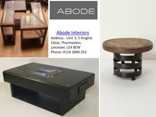 Modern Glass coffee tables - abode-interiors.co.uk