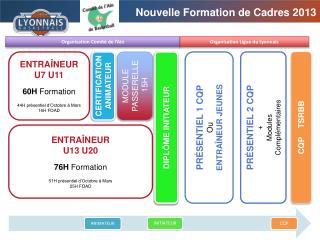 ENTRAÎNEUR U7 U11 60H  Formation 44H présentiel d'Octobre à Mars 16H FOAD