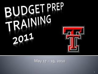 BUDGET PREP TRAINING   2011