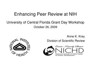 Enhancing Peer Review at NIH