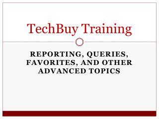 TechBuy Training