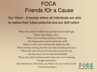 FOCA  Friends fOr a Cause