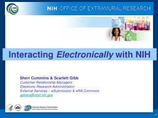 Interacting  Electronically  with NIH