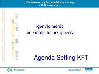 Agenda Setting KFT
