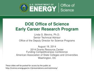DOE Office of Science Early Career Research Program