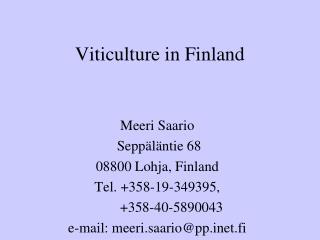 Viticulture in Finland