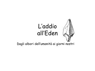 L'addio  all'Eden