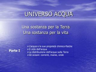UNIVERSO ACQUA