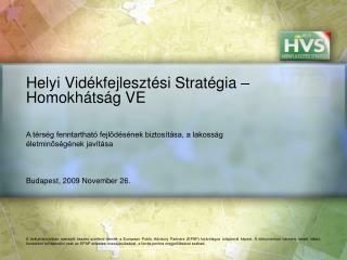 Helyi Vidékfejlesztési Stratégia – Homokhátság VE