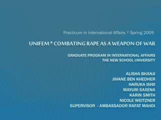 Practicum in International Affairs * Spring 2009
