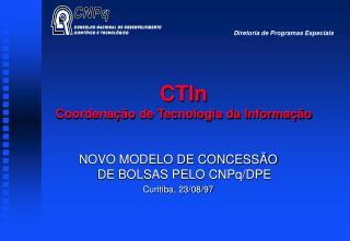 CTIn Coordenação de Tecnologia da Informação