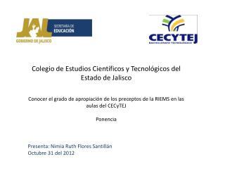 Colegio  de Estudios Científicos y Tecnológicos del Estado de  Jalisco