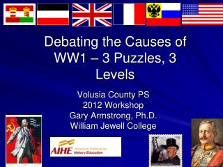 Debating the Causes of WW1 – 3 Puzzles, 3 Levels