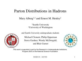 Parton Distributions in Hadrons