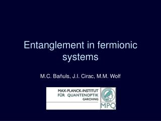 Entanglement in fermionic systems
