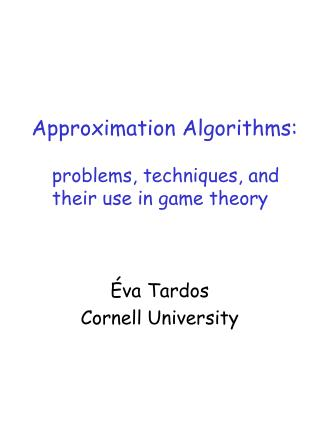 Approximation Algorithms: