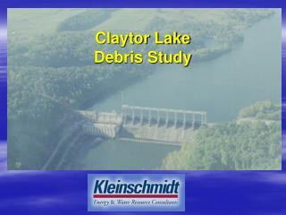 Claytor Lake  Debris Study