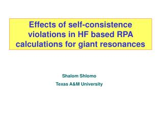 Effects of self-consistence violations in HF based RPA calculations for giant resonances