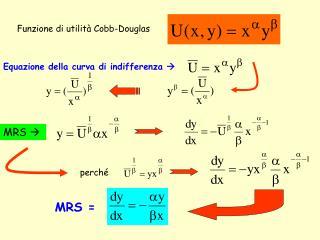Funzione di utilità Cobb-Douglas