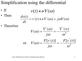 Simplification using the differential