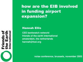 how are the EIB involved in funding airport expansion?