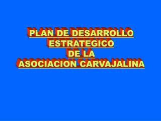 PLAN DE DESARROLLO ESTRATEGICO DE LA ASOCIACION CARVAJALINA