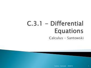 C .3.1  - Differential Equations