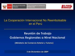 Reunión de Trabajo Gobiernos Regionales a Nivel Nacional