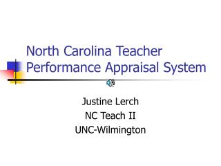 North Carolina Teacher Performance Appraisal System