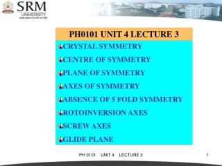 PH0101 UNIT 4 LECTURE 3