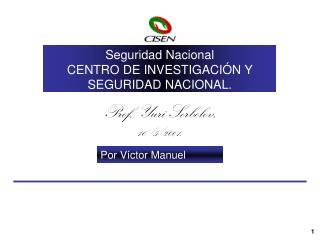 Seguridad Nacional  CENTRO DE INVESTIGACIÓN Y SEGURIDAD NACIONAL. Prospectiva Lineal Simple.