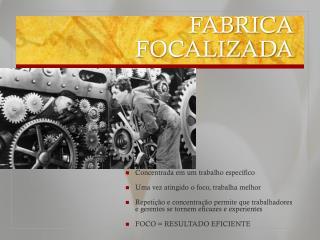 FABRICA FOCALIZADA